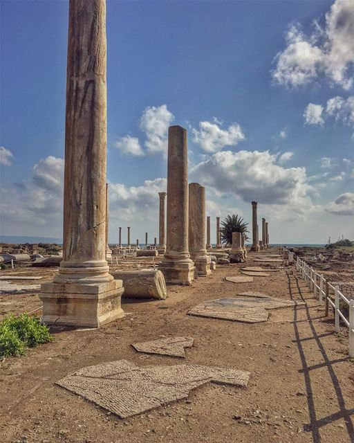 I would love to go back in time when pillars where all the craze in... (Tyre, Lebanon)