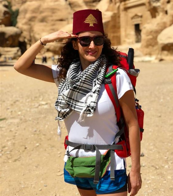 لبنان في البتراء livelovelebanon  livelovejordan  hiking  trekking ...