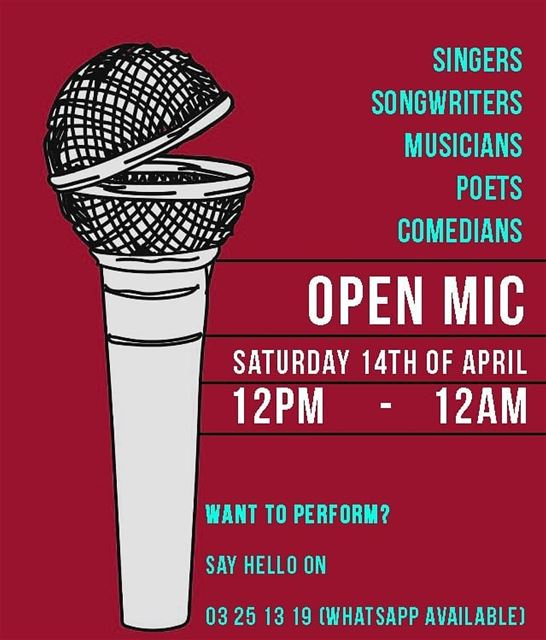 Time to unleash your talents! Join us for a full day of an Open Mic where... (Em's cuisine)