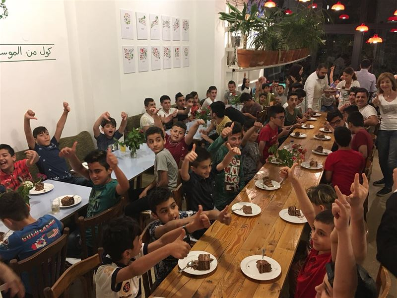 Youngsters from  Lebanon and  Iraq filled  TawletBeirut's tables tonight,...