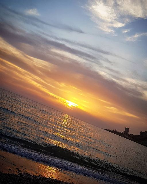 A  beautiful  sunset ... lebanon  jounieh  beach  sea  colorful ...