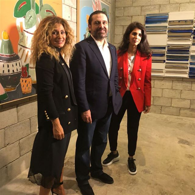 Prime Minister @saadhariri at the inauguration of The Urban Experience art...