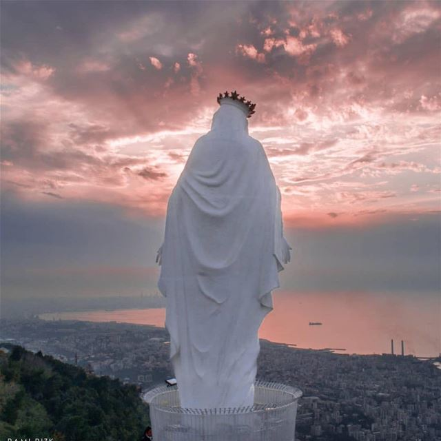 God had blessed her above all women, and may She bless you all and give... (Harîssa, Mont-Liban, Lebanon)