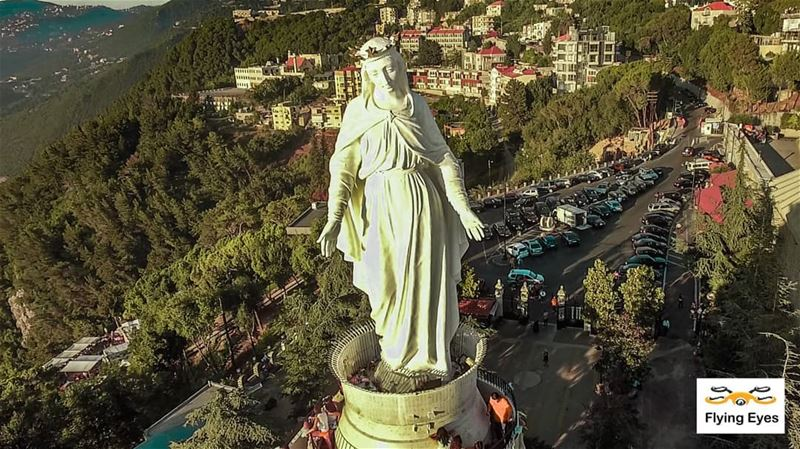 May our Lady Of Lebanon shower you all with her blessings.ينعاد على الجميع (Harîssa, Mont-Liban, Lebanon)