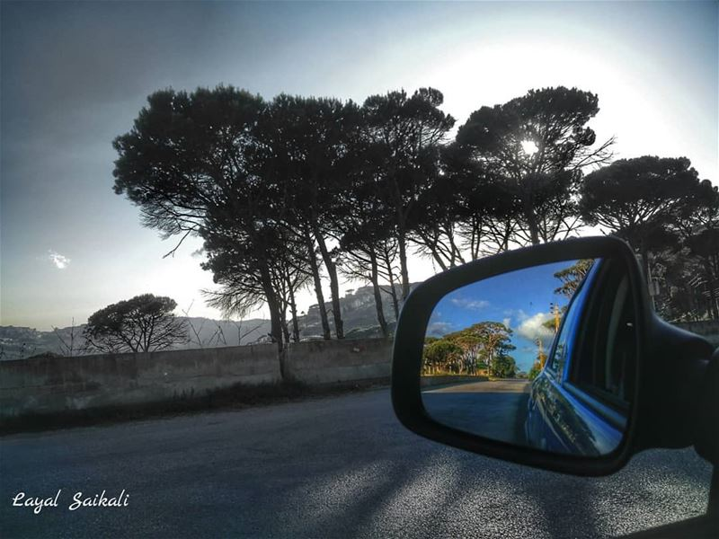 ``They say don't text and drive .. but they never said don't shoot 📸and... (Deïr El Harf, Mont-Liban, Lebanon)