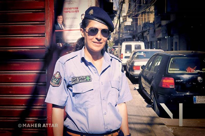 "Meet Paula .. Pollice officer .. ""Female officers have calmed down... (Beirut Bourj Hammoud)"