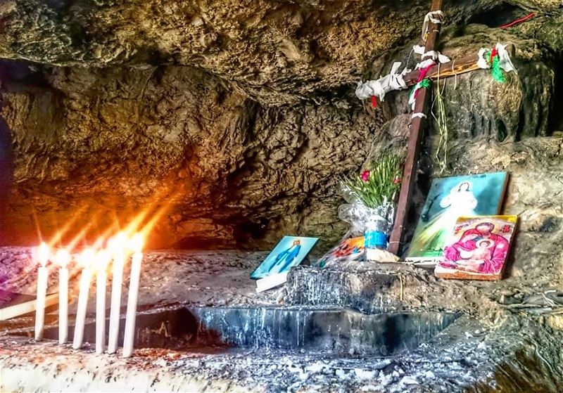 Just as a candle cannot burn without fire, men cannot live without a... (Qana Grotto)