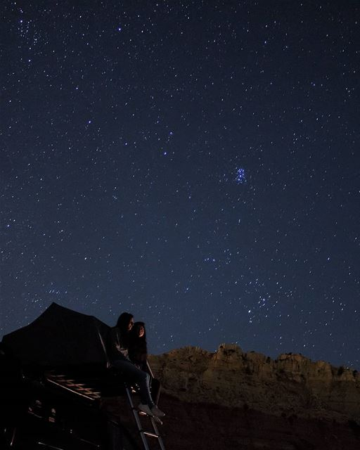 Lord, You placed the stars in the sky, yet You call me Beautiful 🌠 ... (Akoura, Mont-Liban, Lebanon)