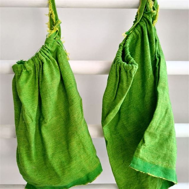 Veggie produce bags made of recovered textile from an abandoned sewing...