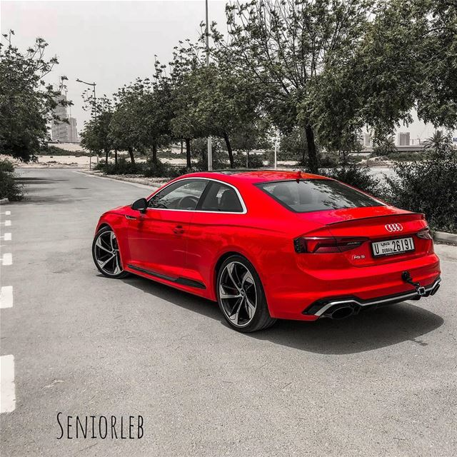 One of the best looking cars. The New Audi RS5 ❤️  audi  audirs5  audifans... (Dubai, United Arab Emirates)