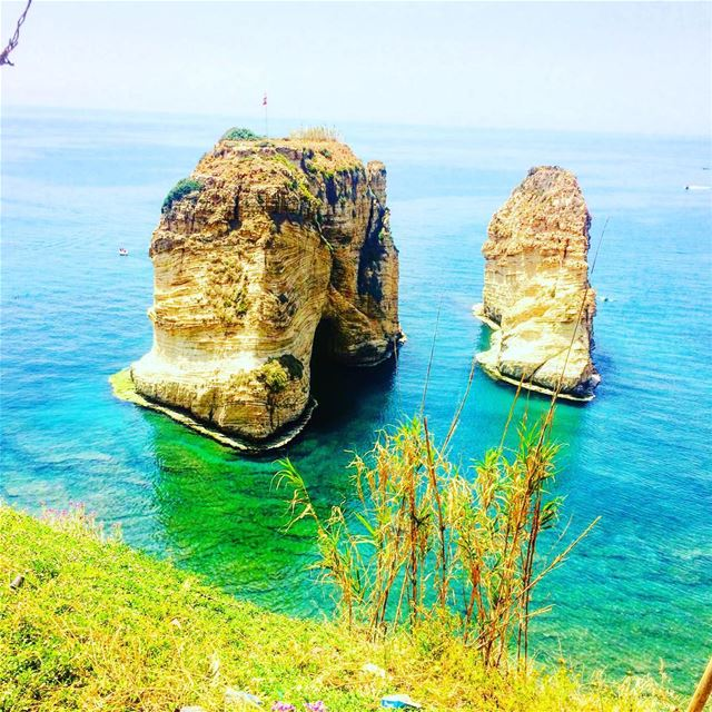 Just a stone in the middle of the sea !🇱🇧❤️ photo  photography  lebanon... (Raouche Rock)