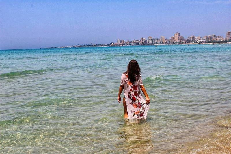 Sun, sand, the sea and me 😊 ......... 📸 @pamchemali enjoylife ... (Tyre, Lebanon)