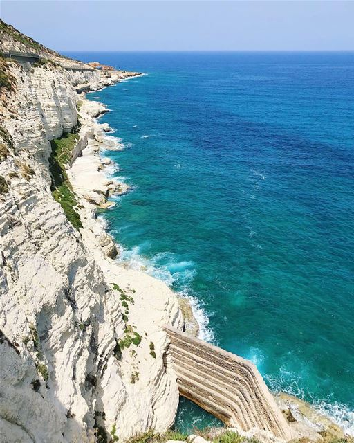 Naqoura Sea Wall  livelovetyre  livelovebeirut  sea ... (الناقورة / Al Naqoura)
