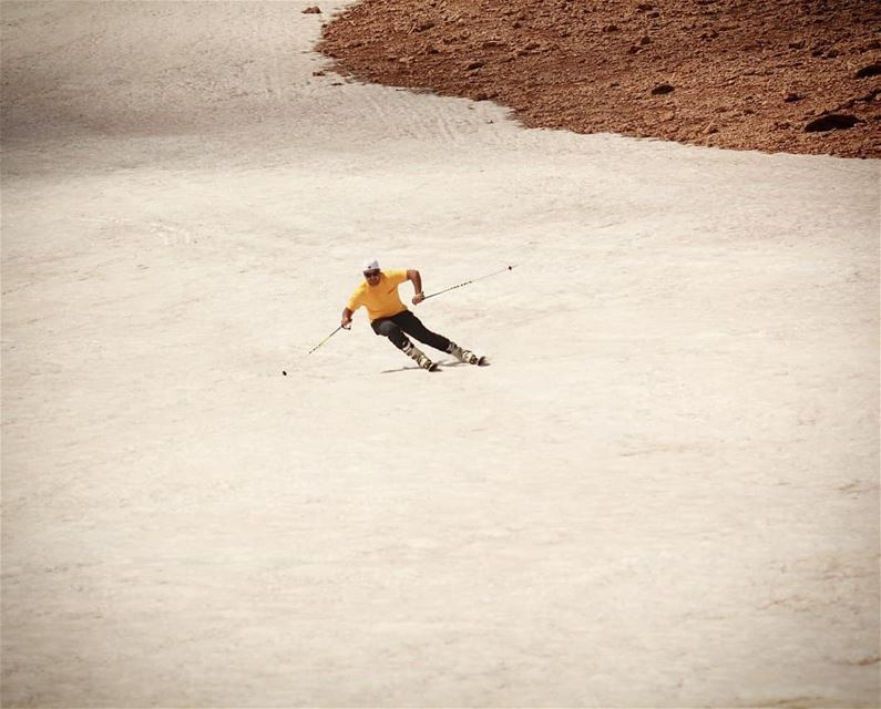 Summer skiing  farayalovers  lebanon  lebanonlovers  salomon ... (Qurnat as Sawda')