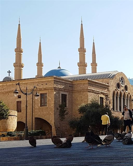 ... A church with minarets above,Is what you come across,And then again,... (Downtown Beirut)