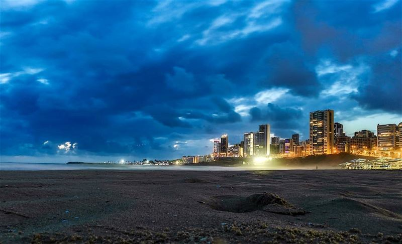 The blue hour | Beirut stormy evening 11th of June. beirut  lebanon ... (Beirut, Lebanon)