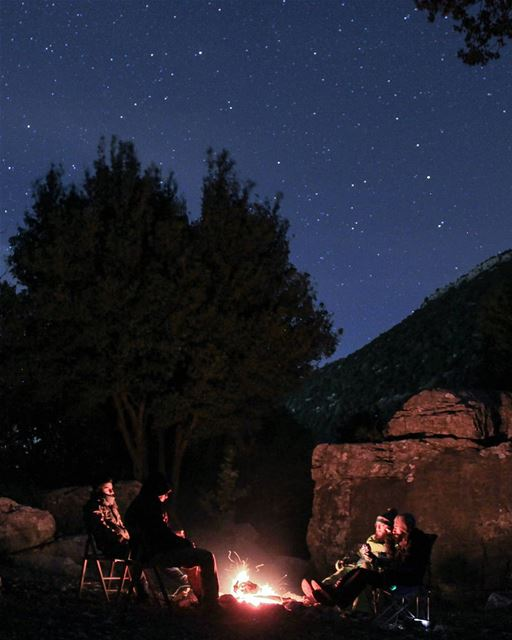 Cold Air, Dark Night, Warm Fire, Bright Stars 🌠  deefordiscovery ....... (Hakel, Mont-Liban, Lebanon)