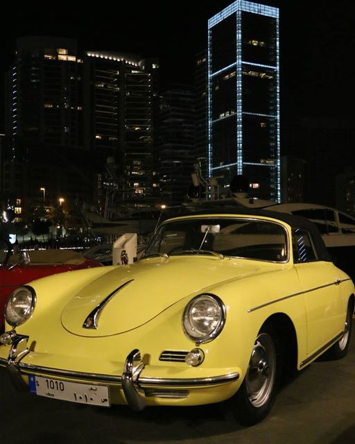 Night night Beirut...All those beautiful vintage Porsches are sleeping by... (Saint George Yacht Club & Marina)