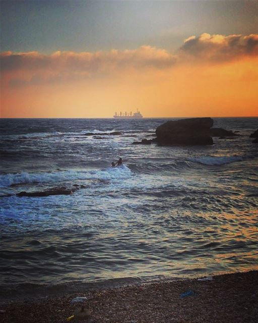 Sunset time 😍 lebanon  batroun  sunset  raysbatroun  sunset_vision ... (RAY's Batroun)