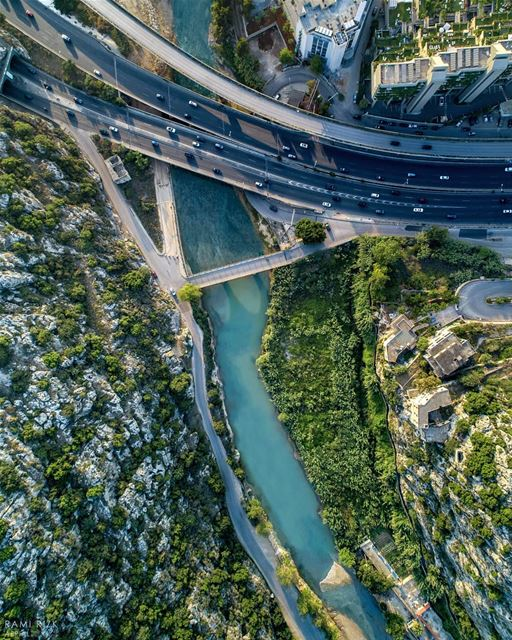 Naher l kaleb like you've never seen it before.It is a river in Lebanon... (Nahr al-Kalb)