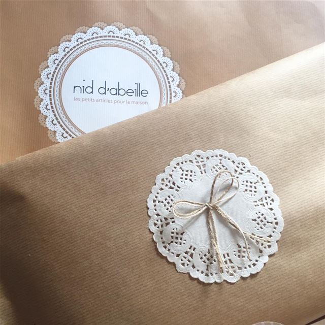 Wrapped with ❤️Write it on fabric by nid d'abeille  packaging ...