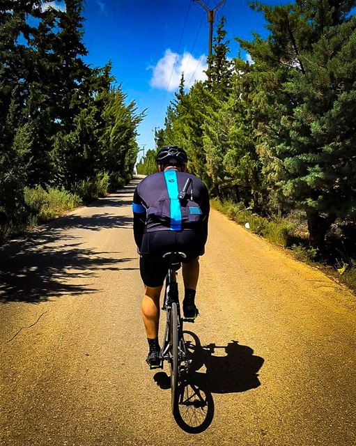 """Serenity is not freedom from the storm, but peace amid the storm.""🌄🚵☀️... (Botmeh El Shouf)"