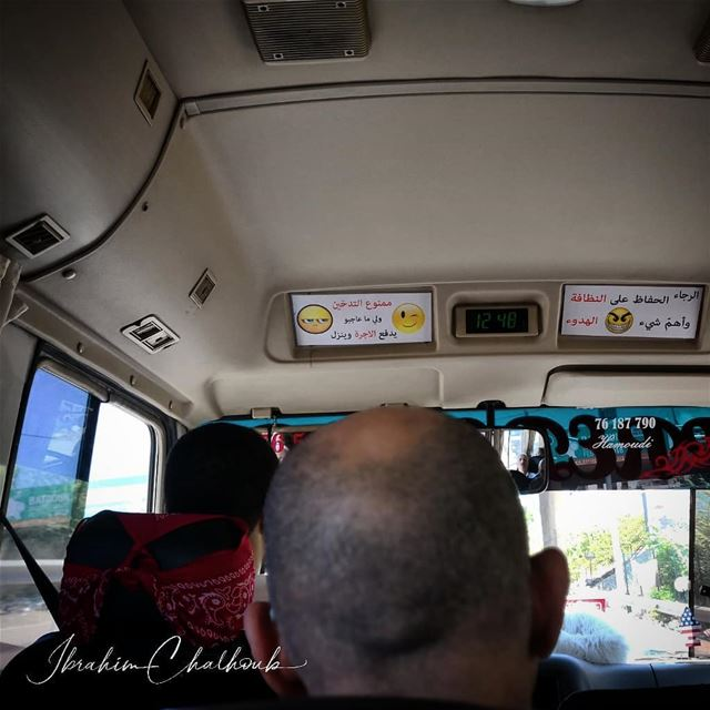 Emojis on the bus -  ichalhoub in  Beirut  Lebanon shooting with a mobile...