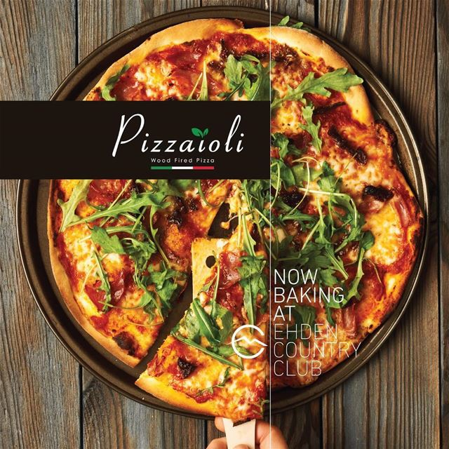 Pizzaioli is ready to serve you now at Ehden Country Club! Tag your pizza... (Ehden Country Club)