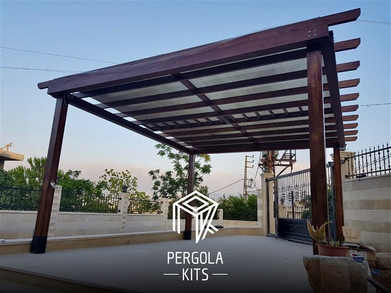 Wood Structure with Polycarbonate Roofing Pergola Kits.... (Bdebba, Liban-Nord, Lebanon)
