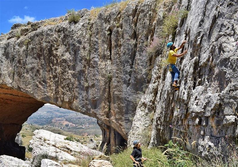 The beautiful natural bridge of Faqra, the perfect location for our event... (Natural Bridge Kfardebian)