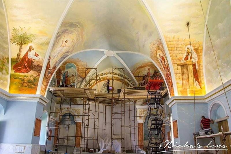 Restoration of Sebhel church by my the painter & sculptor Tony Farah (my...