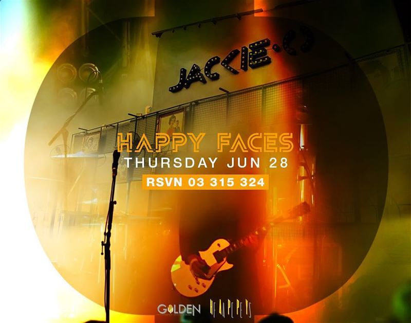 We are grooving up you Thursdays with Happy Faces Band on the Jackie O...
