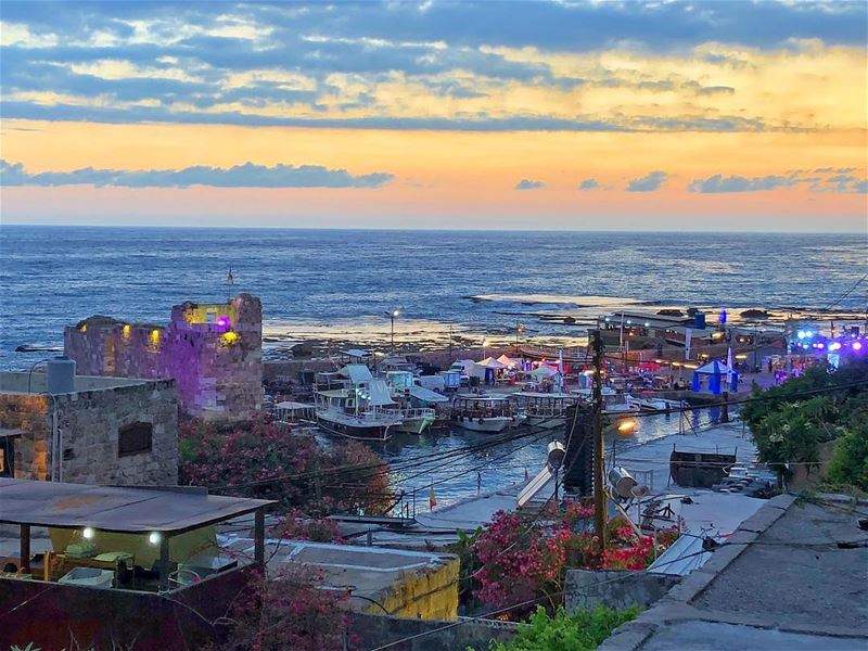 So magical.  sunset  lebanon ... (Byblos - Jbeil)