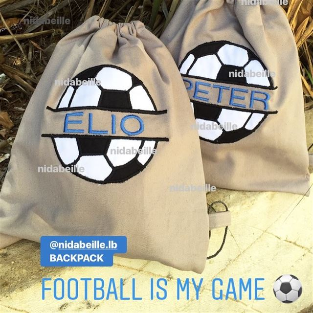 Goalllll ⚽️ Write it on fabric by nid d'abeille. Plastified backpack for...