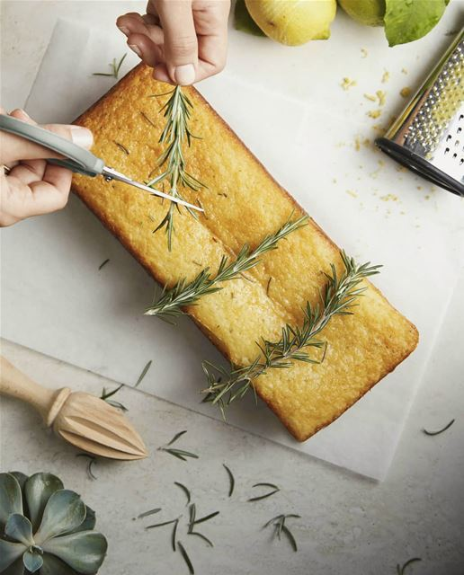 Posts I like to share in the  morning! Not only this lemon rosemary cake... (Joe Khoury Studio)