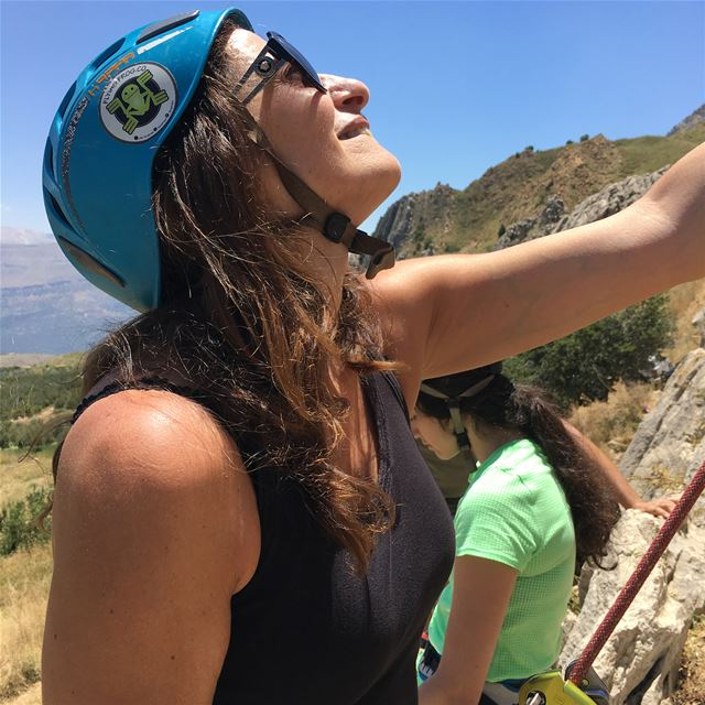 The MAMA belaying her daughters and climbing with themClimb with your... (Lebanon)