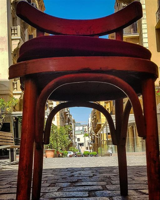 Give the Chair a flying Kiss,,But don't stick to It..🍃It's ... (Beirut Souks)