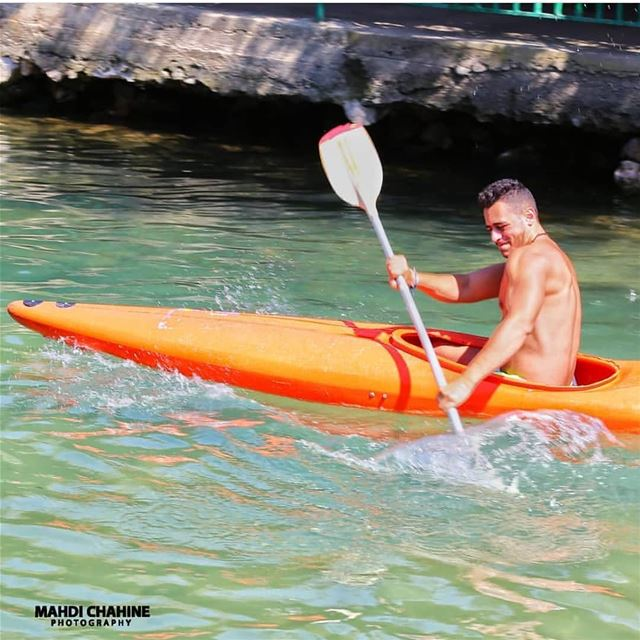 Kayaking by @mahdichahine.photography fun  kayak  kayaking  assiriver ... (El Hermel, Béqaa, Lebanon)