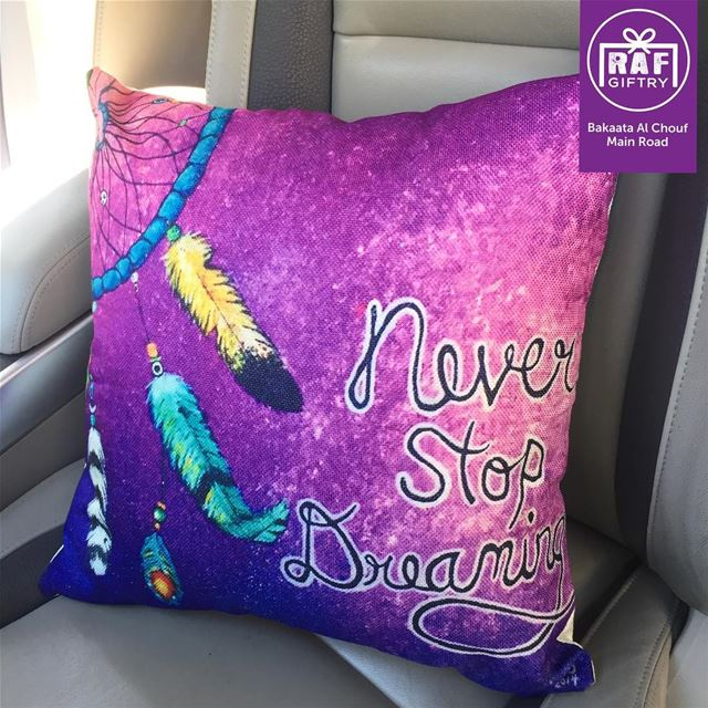 Never stop dreaming 🌠 raf_giftry....... dream  pillow ... (Raf Giftry)