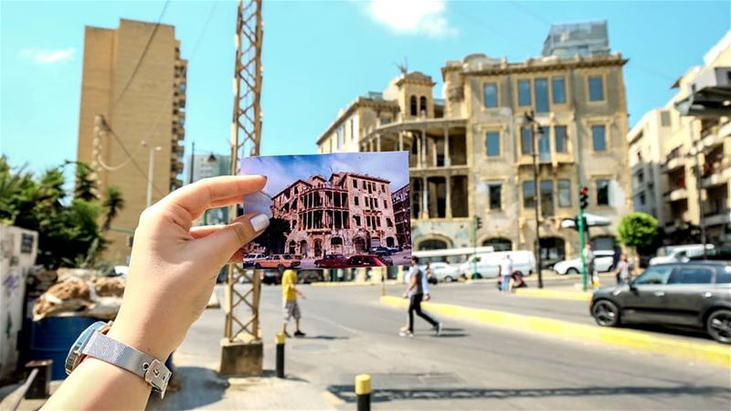 // the building that once stood as a barrier between the Lebanese citizens, (Sodecor)