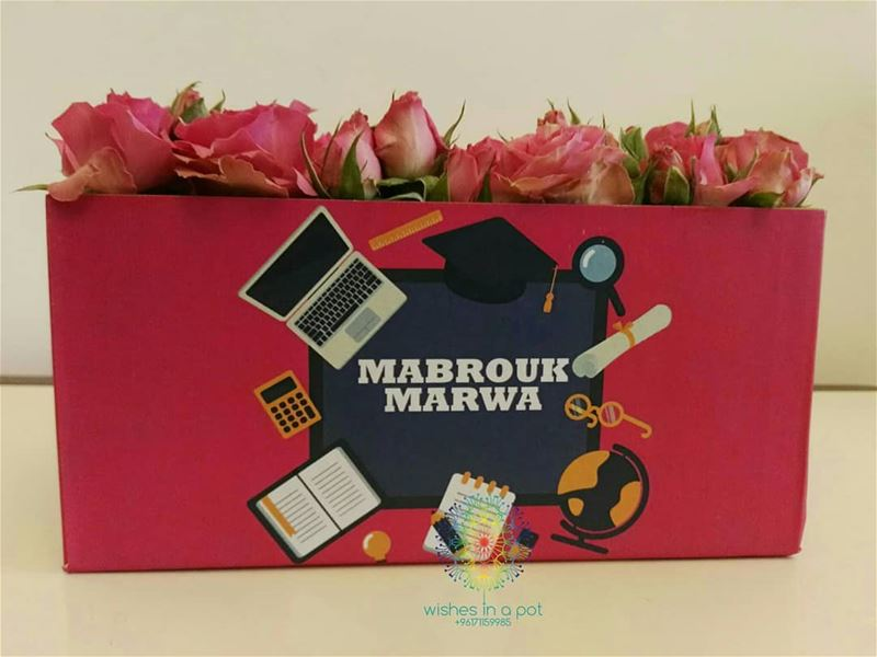 congratulations  Marwa! Want a gift for a graduate? Call us now: ...