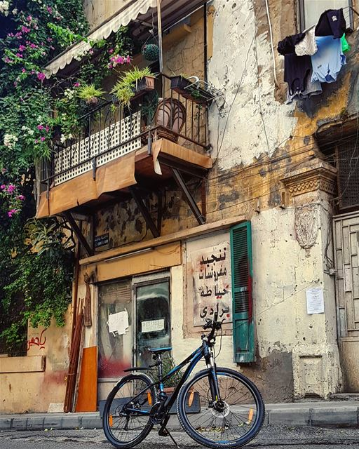 Not the facade.. but what's behind..🚲🍃 cycling stories... (Beirut, Lebanon)