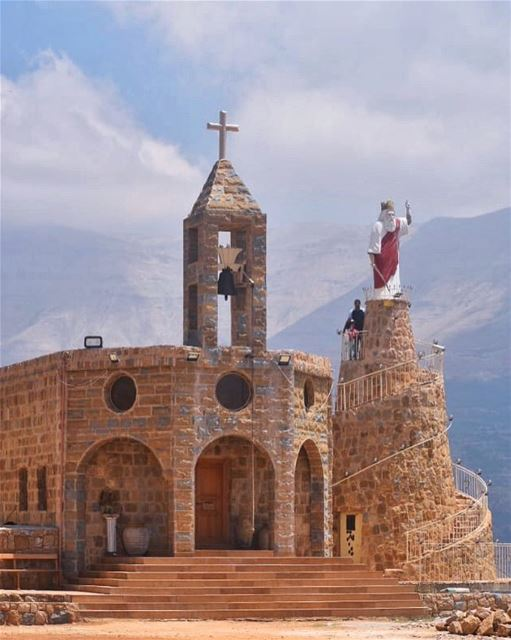 Wishing you a blessed & beautiful Saint Elias day 💙🙏🏻🕯... (Blaouza, Liban-Nord, Lebanon)