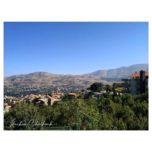 View the view -  ichalhoub in  Hasroun, a village in north  Lebanon...