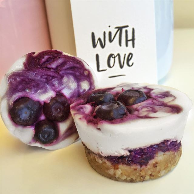 Just delivered new treats 🍇🍇mini vegan Blueberry Acai' cheesecakes🍇🍇... (U Energy Beirut)