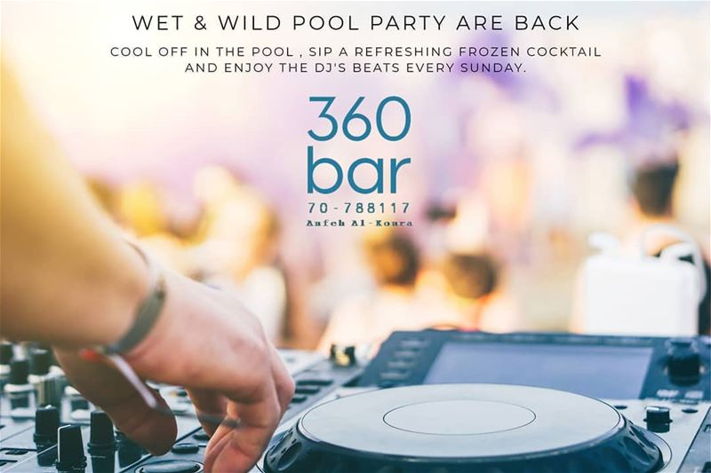 Pool Party Are Back , Enjoy the Dj's beats Every Sunday!!!@360_poolbar@ma (360 Bar)