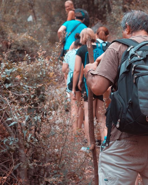 Forest HikeWalk for 10 km with a wonderful team in a forest @jabalmoussa ... (Chouène, Mont-Liban, Lebanon)