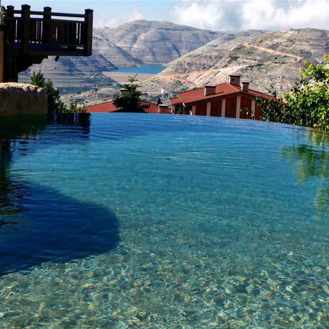 Pool fun and mountain fun.  livelovelebanon  visitlebanon  swimmingpool ...