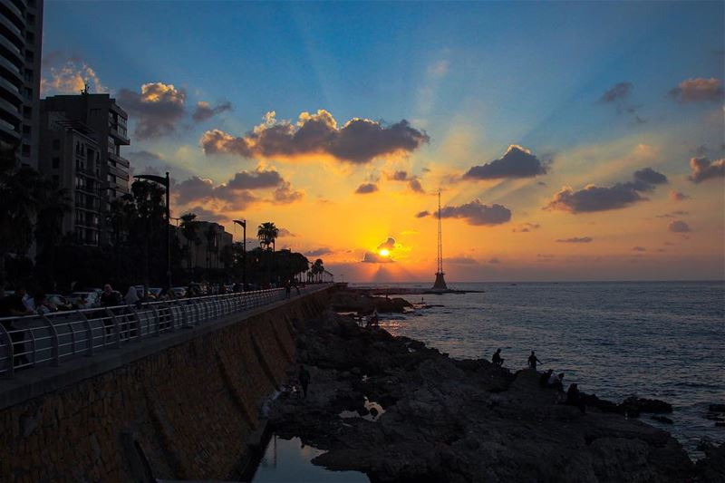 What a beautiful Sunset 🌅 Beirut 31/07/2018 (Beirut, Lebanon)
