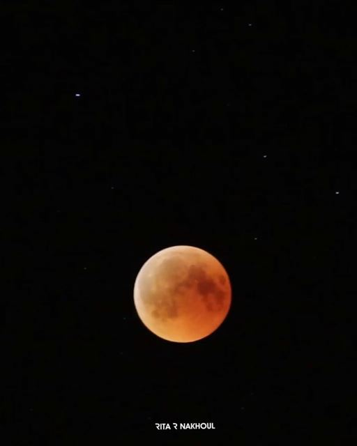 Throwback the Longest Lunar Eclipse of the Century. bloodymoon  eclipse ... (El Haush, Béqaa, Lebanon)